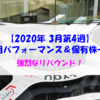 【株式】週間運用パフォーマンス&保有株一覧(2020.3.27時点)  強烈なリバウンド!