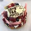 初日、写真展「新たなる試み」誕生日?Leicaさんよりケーキの差し入れがありました