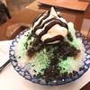 【武蔵小杉】一部店舗でしか食べられないチョコミント氷をグランツリーの椿屋カフェで