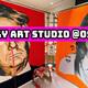 鼻血イラストレーターbuggy(バギー)氏の壁画制作とアートスタジオについて