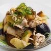 茄子・豚肉・椎茸のポン酢ラー油のレシピ