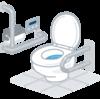 節水のためにもトイレの2度流しはやめてもらいたい...トイレ節水グッズは充実してます