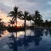 沖縄・ブセナテラスで夏休み その19 燃える夕陽とアトランティック・スター