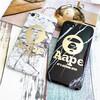 高貴感が溢れるの大理石柄のエーエイプAape  iphone8 ケース 超ファッション