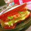 韓国風 鶏ささみと春キャベツの旨辛サンドイッチ