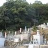 観光の道と一般の墓地