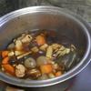 幸運な病のレシピ( 2000 )朝:五目豆、鮭、赤魚、いわし丸干し、タマネギ味噌汁、マユのご飯