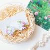 「紫陽花のブーケ」刺繍イヤリングを、お店に並べました