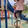 早朝、公園遊び