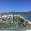 ダナンのビーチエリア中心地からの眺め