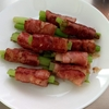 チンゲンサイの茎料理 その2 アスパラ・ベーコン巻風