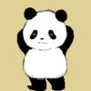 10連休明けのパンダのイラスト
