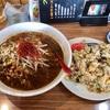 南下浦町菊名の「龍華」で麻辣刀削麺&台湾風炒飯のセット