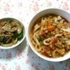 おうちごはんシリーズ♬(脂肪燃焼スープうどん、野菜のごま味噌炒め)