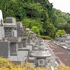 「 盛夏に向かうお墓の風景 」