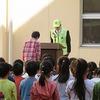 朝会:学級委員任命、交通安全