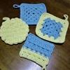 アクリル毛糸でタワシを編んでみた