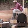 ドラム缶回転式コンポストトイレの作り方1