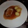 イギリスの湖水地方のホテルでポーク・ステーキのディナー【料理もちょっといいイギリスツアー・8】
