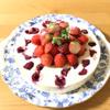 フランボワーズといちごのレアチーズケーキ