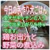【手作り犬ご飯】鶏と野菜の煮込み 犬も大喜び!鶏お出汁