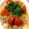 ツナ玉トマトのパスタ