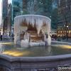 NY 冬の風物詩ブライアントパークの噴水が凍る!?まるでアート!