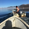 ワカサギ釣り初心者が山中湖でボートに乗って食料を獲ってきた