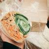 """【POTASTA】朝採り有機野菜たっぷりの""""メガサンドイッチ""""が食べたい日。"""