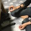 甲斐犬サンの耳掃除の巻〜(´;Д;`)オ耳、ホジルノ?