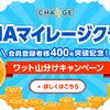 【ANAマイレージクラブ会員登録者数400名様突破記念】ワット山分けキャンペーン開催!
