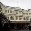 シンガポールのラッフルズホテルは現在リニューアル中です。