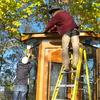 第14回 ツリーハウス作り 土台の固定 屋根