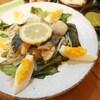 鯖のレモン煮茹で卵添え