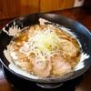 「コク煮干中華そば(2020ver.・ひもかわ麺)」「ミニパーコー丼」客野製麺所