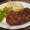 Salisbury steak with maple sirup