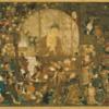 国宝「釈迦金棺出現図」 この世の仕組みを表す絵
