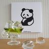 インテリアに使えるかわいいパンダグッズは、手ぬぐいで作るパンダのファブリックパネル