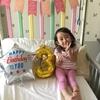 病室で3歳誕生日
