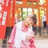 東伏見稲荷神社は祈祷中撮影OK、鳥居がいっぱい木漏れ日キラキラ~!!