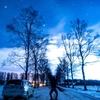 旅の始まりに~音更町白樺並木の星空【1月6日撮影】