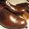 たまにはワックスなしの靴メンテを楽しんでみる♪