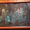重ね切り絵色々ー草原の中のムーミン達