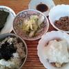 朝食シリアルと海苔と納豆