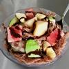 福泉布丁豆花でふわふわチョコレート味のかき氷を食べる