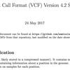 バリアントコール結果のVCFフォーマット