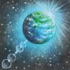 パステル講座「青く輝く地球」
