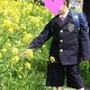 張り切って作った息子の入学式服。