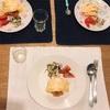 (リクエスト)オムライス、白菜と塩昆布のサラダとトマト