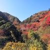 山田堰堤上の岩稜尾根末端を北側から回り込む